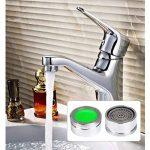 16 pièces Mousseur vert 22mm-24mm Aérateur robinet Économiseurs d'Eau bubbler Remplaçable Économie consommation d'eau outil de Clé à molette,salle de bains lavabo cuisine Aérateurs pour robinet de la marque FOCCTS image 2 produit