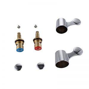 'KES pch200a3Robinet Quart de tour de valves/cartouches d'encre avec têtes à levier en métal 1/5,1cm pour cuisine salle de bain robinet BID Robinet, chrome de la marque Kes image 0 produit