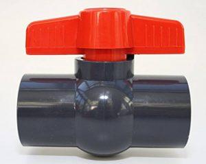 'Robinet à boisseau sphérique 32mm avec 2x Manchon adhésives 1en PVC–U 10bar DIN 8063 de la marque Unbekannt image 0 produit