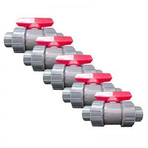 """'Vanne à Sphère PVC 32mm 1""""  vanne de boule PVC 32mm 1pack de 5unités de la marque Riegoprofesional image 0 produit"""
