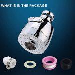 3New 360 ° Pivotant Économiseur D'eau Robinet De Buse Aérateur Filtre Économiseur D'eau Diffuseur De Cuisine Accessoires (Court) de la marque UIOT image 1 produit