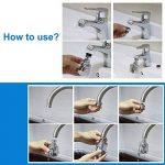 3New 360 ° Pivotant Économiseur D'eau Robinet De Buse Aérateur Filtre Économiseur D'eau Diffuseur De Cuisine Accessoires (Court) de la marque UIOT image 4 produit