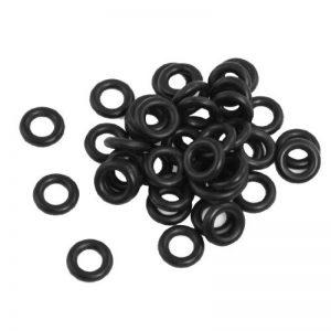 50pcs Flexible caoutchouc nitrile O Rings Rondelles Oeillets 4mm x 9mm x 2,5mm de la marque sourcing-map image 0 produit