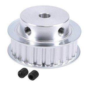 Alum. XL24 Dent 6.35mm Calibre Courroie distrib. Poulie pour 10mm Ceinture 3D Imp.CNC de la marque Miki&Co image 0 produit