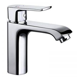 Amzdeal Mitigeur Robinet pour lavabo/salle de bain - en laiton chromé, Robinet de lavabo monocommande avec cartouche en céramique de la marque amzdeal image 0 produit
