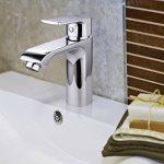 Amzdeal Mitigeur Robinet pour lavabo/salle de bain - en laiton chromé, Robinet de lavabo monocommande avec cartouche en céramique de la marque amzdeal image 3 produit