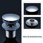 AuraLum Bonde de de lavabo en forme de rond pour lavabo Pop Up avec trop-plein de la marque AuraLum image 2 produit