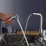 BATHWA Robinet de Cuisine Haute Pression Rotatif 360 ° Robinet de Cuisine Extensible avec Bec Rétractable de la marque BATHWA image 3 produit