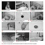 BONADE Set de Siphon + Pop Up Soupape de Vidange avec Trop-plein Bonde Automatique de Lavabo Mural en Cuivre Chromé de la marque BONADE image 4 produit