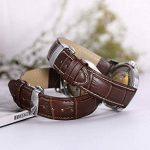 Bracelet Montre Cuir Homme Femme Bande Remplacement Boucle pour Montre -16mm 17mm 18mm 19mm 20mm 21mm 22mm de la marque Grsafety image 3 produit