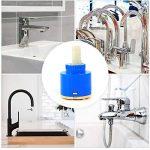 Cartouche céramique pour robinet(2pcs) - Remplacement pour le robinet à une poignée, réparation de valve(35mm) de la marque Aramox image 3 produit