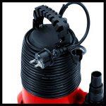 Einhell Pompe d'évacuation eaux claires GC-SP 2768 (270 W, Câble d'alimentation 10 m, Corps en PVC - Turbine en inox, Enroulement du câble intégré, Poignée de transport) de la marque Einhell image 4 produit