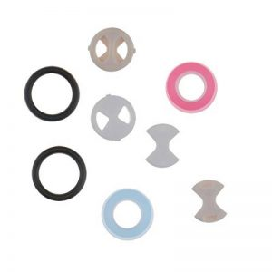 ENET 8pcs Robinet Céramique Insert de Rondelle en Silicone Silicium Disque Tour Remplacement Ensemble pour Robinet de Soupape de la marque ENET image 0 produit