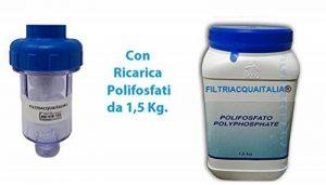 Filtre anticalcaire pour machine à laver avec 10recharges de polyphosphate de 1,5kg de la marque Filtri Acqua Italia image 0 produit