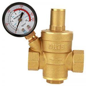 FTVOGUE Réducteur Réglable en Laiton Régulateur de Pression d'eau de Valve de Réduction de Pression DN15 avec Le Mètre de Mesure de la marque FTVOGUE image 0 produit