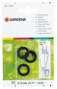 Gardena Joint Plat Bague d'Étanchéité pour Raccords, Nez de Robinets Grand Débit, Vannes à 2 Voies (5301-20) de la marque Gardena image 0 produit