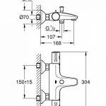 GROHE Mitigeur Thermostatique Bain/Douche Grohtherm 800 34569000 (Import Allemagne) de la marque GROHE image 1 produit
