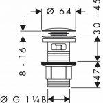 Hansgrohe - 50105002 - Bonde de Vidage Push Open pour Lavabo de la marque Hansgrohe image 2 produit