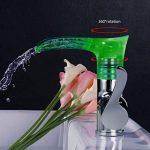 Jueven Robinet de lavabo à Un Trou à LED, Robinet de vanité à Bec orientable à 360 °, mitigeur à Une Manette éclairage LED de la marque Jueven image 2 produit