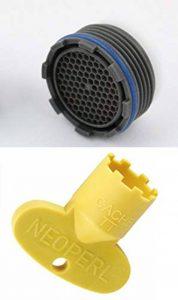 Kit aérateur pour robinet escamotable avec clé 16x 1m, mousseur et filtre. de la marque Neoperl image 0 produit
