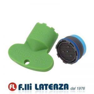 Kit aérateur pour robinet escamotable avec clé 18,5x 1M, mousseur et filtre. de la marque Neoperl image 0 produit