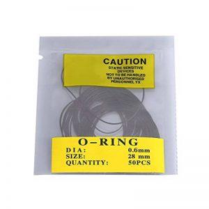 Kit Joint d'étanchéité torique en caoutchouc 12mm-30mm Universel O-Ring Réparation pour montre horlogerie 950/750Pcs(0.6mm) de la marque Yosoo image 0 produit