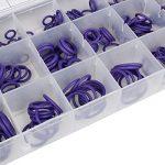 Larcele 18 Tailles Kit d'Assortiment de Joint Torique O-Ring en Caoutchouc pour le Compresseur d'Air de Voiture, 270 Pièces QC-MFX01 (Violet) de la marque Larcele image 4 produit