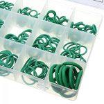 lzndeal 270 Pcs Joints Rondelle Caoutchouc Nitrile assortiment Joint Torique Kit NBR 18 Tailles en Vert avec Une Boîte Plastique Refermable, O-ring seals,Kit de bagues Anneaux de étanche Pour Système de Climatisation De Voiture de la marque lzndeal image 3 produit