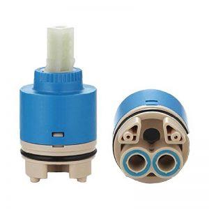 Ownace 35mm/40mm Plastique à disque en céramique de salle de bain douche Lavabo à levier robinet mitigeur Inner Cartridge, Céramique, 40mm de la marque Ownace image 0 produit
