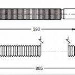 """Siphon universel flexible jOLLYFLEX pour lavabo de salle de bain sUPER-stretch-ne de 390-865 mm-extensible en plastique 5/4 """"- 32 cm de diamètre de la marque Aquashine image 3 produit"""